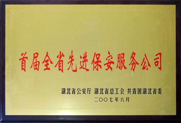2007年全省先进亚博体育网址服务公司