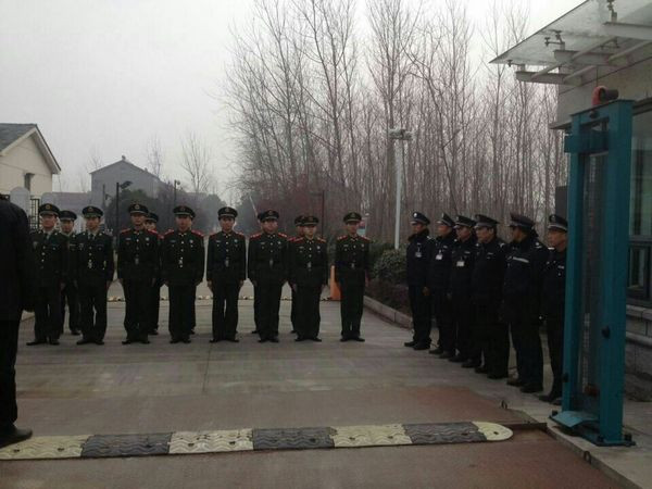 公司圆满完成荆州国家电网武警换防交接任务